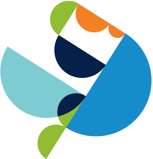 Decorative image of multi colored circles.