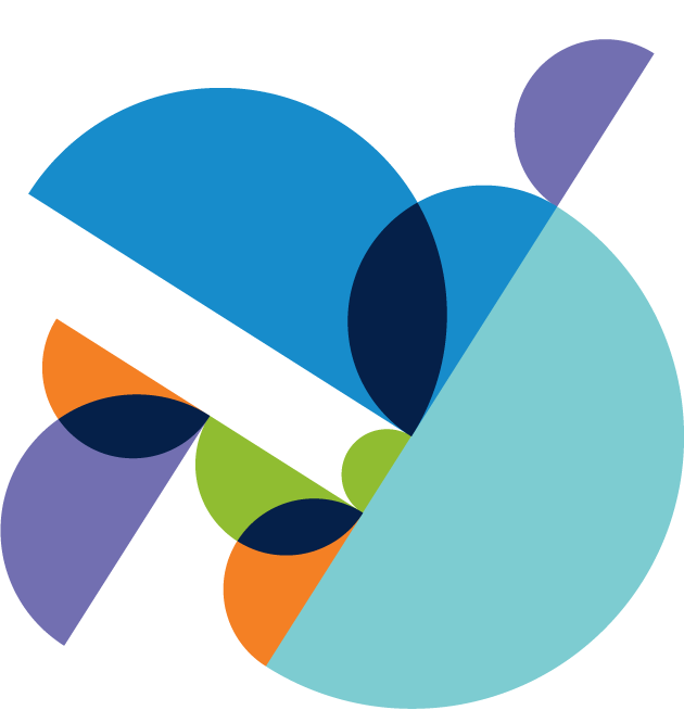 decorative multi colored circular shapes