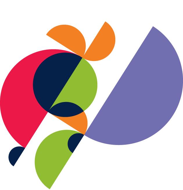 decorative colorful circles
