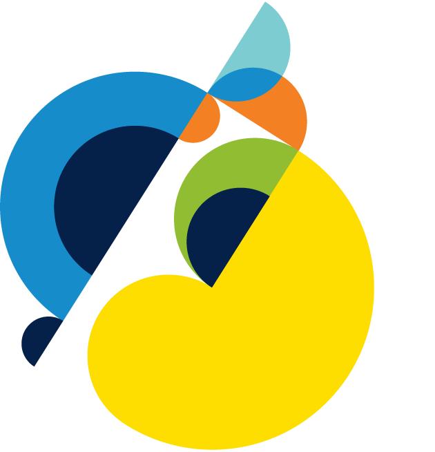 decorative image of multi colored circular shapes